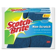 3M Scotch-Brite Non-Scratch Multi-Purpose Scrub Sponge, 6/Pack