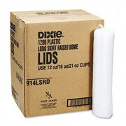 Dixie Plastic Lids for Pathways Cold Drink Cups, 12- and 16-Oz., 1200 Lids/Carton