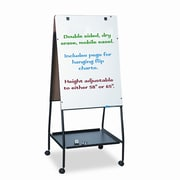 Balt Best-Rite  Wheasel  Easel Dry Casters Mobile Free Standing Whiteboard, 5' x 2'