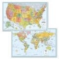 American Map Company Rand Mcnally M-Series Full-Color U.S. and World Maps, Paper, 32 X 50
