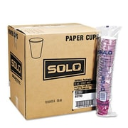 Solo Cups Company Bistro Design Hot Drink Cups, 20 Bags of 50/Carton