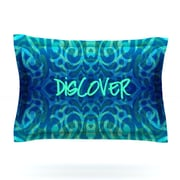 KESS InHouse Tattooed Discovery by Caleb Troy Woven Pillow Sham; Queen