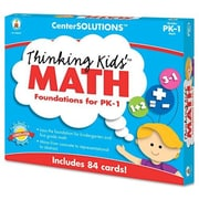 CARSON-DELLOSA PUBLISHING Center Solutions Thinking Kids Math Cards Pre-K and Grade 1 Level