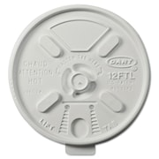 DART Vented Foam Lids for 10-14 oz. Foam Cups with Lift n' Lock Lid (Carton of 1,000)