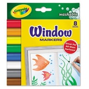 Crayola Washable Window Fx Conical Tip Markers (8/Set)