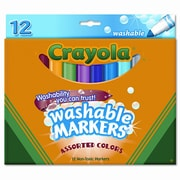Crayola Washable Broad Point Markers (12/Set)