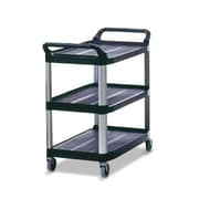 Rubbermaid Commercial Products Open Sided Utility Cart; Black