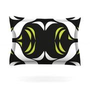 KESS InHouse Green White Jaws by Miranda Mol Woven Pillow Sham; King