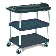 Rubbermaid Commercial Products Media Master AV Cart with 3-Shelf in Black