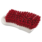 Boardwalk Polypropylene Scrub Brush; Red