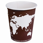 ECO-PRODUCTS World Art Renewable Resource Compostable Hot Drink Cups, 20 Oz, 1000/Carton