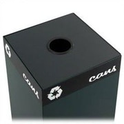 Safco Products Public Square 25-Gal Cans Recycling Containers Lid