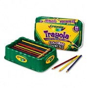 Crayola 3.3 Mm Colored Wood Pencil Trayola (9 Assorted Colors, 54 Pencils/Set)