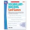 Scholastic Vocabulary Building Card Games, Grade Two