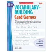 Scholastic Vocabulary Building Card Games, Grade Two Book
