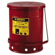 Justrite Oily Waste Can; 10 Gallon