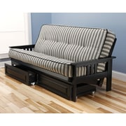 Kodiak Furniture Monterey Futon and Mattress; Black