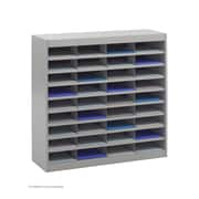 Safco Products Steel Literature Organizer with 36 Letter-Size Compartments; Gray