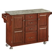 Home Styles Create-a-Cart Kitchen Island with Concrete Top; Cherry