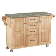 Home Styles Create-a-Cart Kitchen Island with Concrete Top; Natural