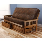 Kodiak Furniture Monterey Palomino Futon and Mattress; Tobacco