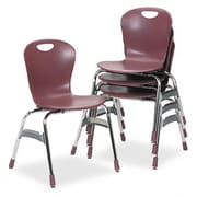 Virco Ergonomic Armless Stacking Chair; Wine