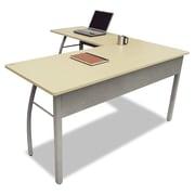 LineaItalia Trento Corner Desk; Oatmeal