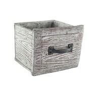 Syndicate Sales Square Planter Box; 7'' H x 7'' W x 6.5'' D