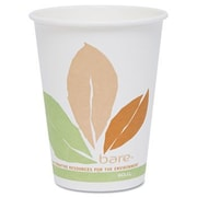 Solo Cups Company Bare Pla Hot Cups with Leaf Design, 12 Oz., 300/Carton