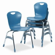 Virco Ergonomic Armless Stacking Chair; Blueberry