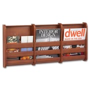 Safco Products Magazine Wall Rack; Cherry