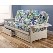 Kodiak Furniture Phoenix Bali Futon and Mattress; Antique White