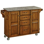 Home Styles Create-a-Cart Kitchen Island with Concrete Top; Oak