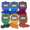 Champion Sports Water-Resistant Stopwatches, 1/100 Second (Set of 6)