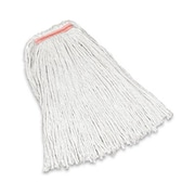 Rubbermaid Commercial Products Premium Cut-End Cotton Mop with 1'' Orange headband in White