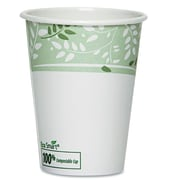Dixie EcoSmart Hot Cups, Paper with PLA Lining, Viridian (Pack of 50)