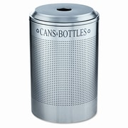Rubbermaid Commercial Products Silhouettes 26-Gal Can/Bottle Round Industrial Recycling Bin