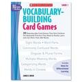 Scholastic Vocabulary Building Card Games, Grade One