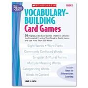 Scholastic Vocabulary Building Card Games, Grade One Book