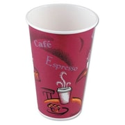 Solo Cups Hot Drink Polylined Paper Cups Bistro Design in Maroon