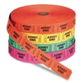 Generations Pm Company Admit One Single Ticket Roll, Numbered, Assorted, 2000 Tickets/Roll