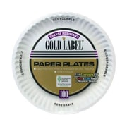 AJM PACKAGING CORP. 9'' Coated Paper Plate in White