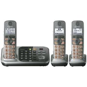 Panasonic® KX-TG7743S DECT 6.0 Link-to-Cell Bluetooth Cordless Phone With 3 Handset, Silver