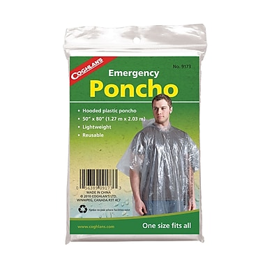 Emergency Rain Poncho, 48/Pack