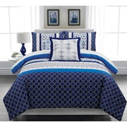 Lauren Taylor Nolan 4-Piece Duvet Cover Set, Blue