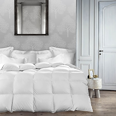 Maison Condelle Silk Distinction Mulberry Silk Filled Cotton Duvet, Full, White