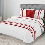 Lauren Taylor Tudisco 4-Piece Duvet Cover Set, Red