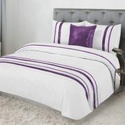 Lauren Taylor Tudisco 4-Piece Duvet Cover Set, Plum