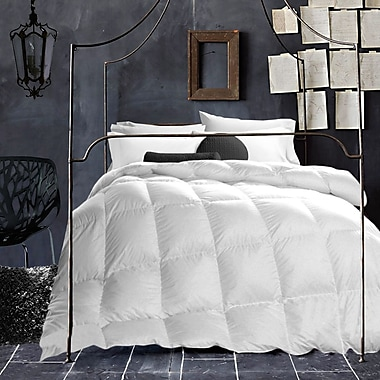 Adiren Lewis- Wool-Filled T200 Cotton Duvet, Full, White