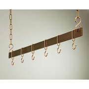Rogar Gourmet Hanging Bar Pot Rack; 42'' Hammered Copper/Copper